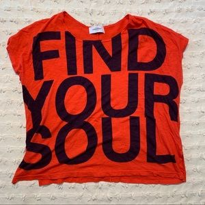 Sundry X SOULCYCLE   'Find Your Soul' Box Tee
